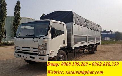 xe tải isuzu 7.5 tấn mui bạt bửng nâng