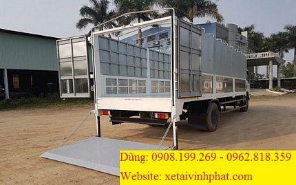 thùng xe tải 7.5 tấn mui bạt bửng nâng