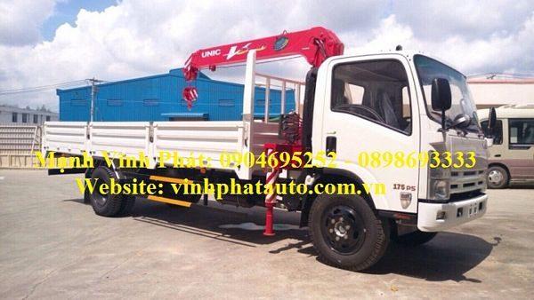xe tải isuzu gắn cẩu unic 344