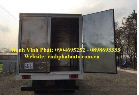 xe tải isuzu vĩnh phát 8 tấn thùng kín