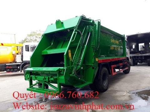 xe cuốn ép rác isuzu 12 khối FN129S
