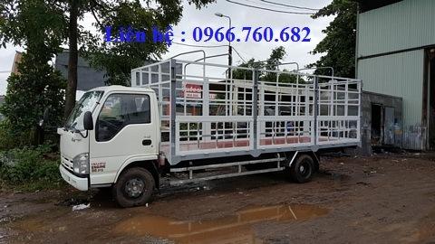 xe tải isuzu 1.9 tấn thùng bạt dài 6m2