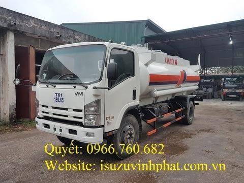 xe xitec chở xăng dầu isuzu 10 khối